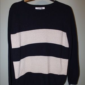NAVY BLUE And gold sweater